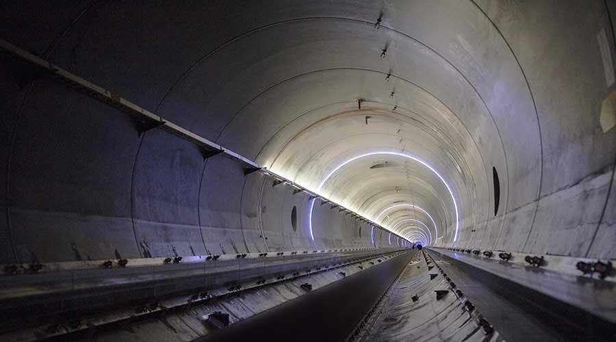 Hyperloop tunnel From Inside