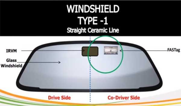 Standard windscreen