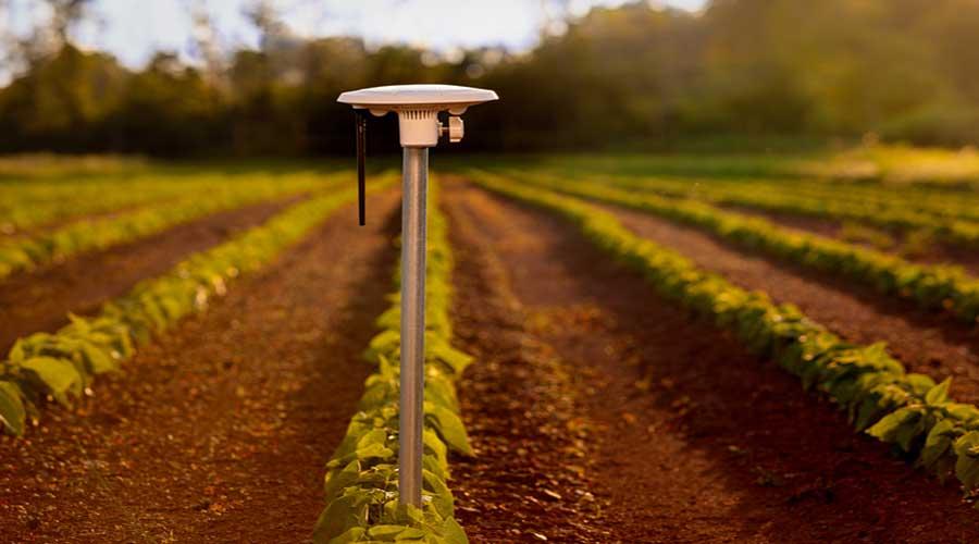 satellite crop monitoring field sensor