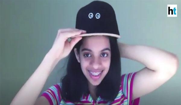 Neha with her cap